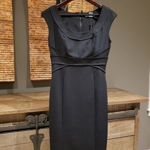 WHBM Sophisticated black sheath dress, NWT.